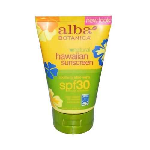 Alba Botanica Hawaiian Aloe Vera Natural Sunblock SPF 30