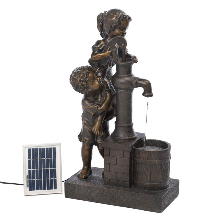 TEAMWORK WATER PUMP SOLAR FOUNTAIN image